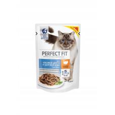 Перфект Фит для кошек для красивой шерсти и здоровой кожи с индейкой в соусе, 85 г