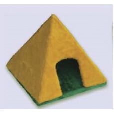 Д-13 ZOOmark Домик Пирамидка для собак и кошек (мех), 40*40*38 см