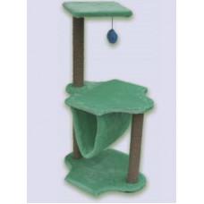 129 ZOOmark Когтеточка трехъярусная для кошек, с гамаком, 45*60*100 см