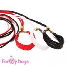 DS03-11-2012 W  FoMyDogs Ринговка белая косичка, 1,2 м