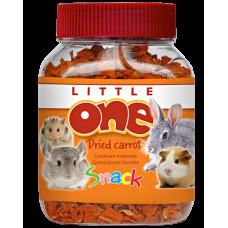 LITTLE ONE Лакомство для грызунов Сушеная морковь, банка 200 г