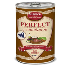 Славика Перфект Корм консерв. для кошек с говядиной, 340 г