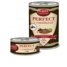 Славика Перфект Корм консерв. для собак с говядиной, 340 г