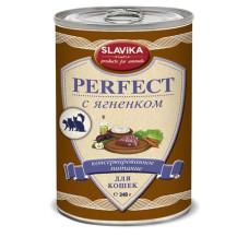 Славика Перфект Корм консерв. для кошек с ягненком, 340 г