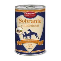 Славика Собрание Корм консерв. для собак с индейкой, 970 г