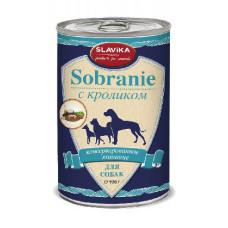 Славика Собрание Корм консерв. для собак с кроликом, 970 г