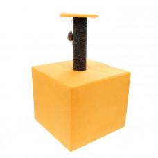 СТМ-9 LOWCOST Когтеточка Столбик Куб с площадкой, ковролин, игрушка, 35*30*85 см