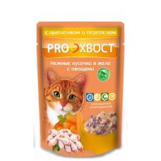 Proхвост Корм для кошек с цыпленком и перепелом, в желе 85 г