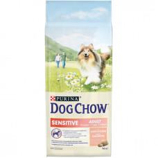 Дог Чау корм сухой для собак с чувствительным пищеварением с лососем 14 кг