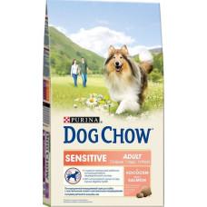 Дог Чау Корм сухой для взрослых собак с чувствительным пищеварением с лососем 800 г