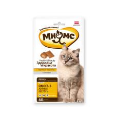 Мнямс Pro Petl Хрустящие подушечки для кошек с лососем Здоровье и красота 60 г