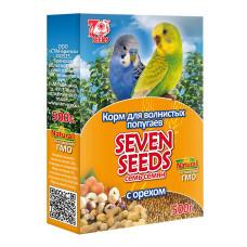 7 семян Корм для волнистых попугаев с орехом 500 г
