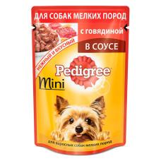 Педигри для взрослых собак мини пород с говядиной и овощами в соусе, 85 г