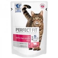 Перфект Фит для взрослых кошек с говядиной, 85 г