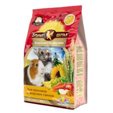 Верные друзья Стандарт Комплексный корм для кроликов и морских свинок, пакет 500 г