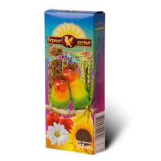 Верные друзья Лакомство для неразлучников с фруктами, 150 г