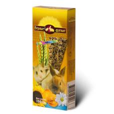 Верные друзья Лакомство для грызунов с абрикосом, 2 зерновые палочки, 150 г