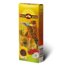 Верные друзья Лакомство для грызунов с клубникой, 2 зерновые палочки, 150 г