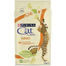 Кэт Чау Корм для кошек с домашней птицей 1,5 кг