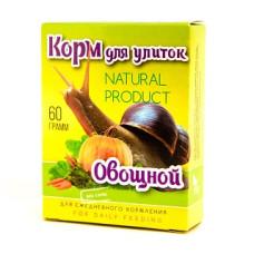 Аквакулинар Корм Овощной для декоративных улиток, 60 г