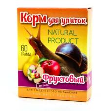 Аквакулинар Корм Фруктовый для декоративных улиток, 60 г