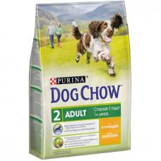 Дог Чау Корм сухой для собак старше 1 года с курицей 2,5 кг