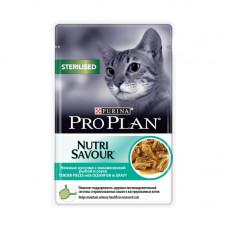 Про План Sterilised Корм для взрослых кошек с океанической рыбой в соусе (пауч) 85 г
