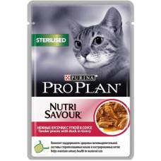 Про План Sterilised Корм для взрослых кошек с уткой в соусе (пауч) 85 г