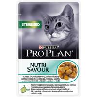 Про План Sterilised Корм для взрослых кошек с океанической рыбой в желе (пауч) 85 г
