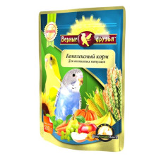 Верные друзья Премиум Комплексный корм для волнистых попугаев, 500 г