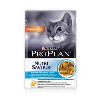 Про План Derma Plus Корм консерв. для взрослых кошек Нежные кусочки с треской в соусе (пауч) 85 г