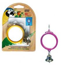 BA510 PENN-PLAX Игрушка для птиц Зеркало с колокольчиком
