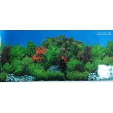 HL-BHWG16 Фон пресноводный с растениями голубой (высота 41 см) 1 м