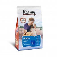 Karmy Макси Эдалт Корм сухой для взрослых собак крупных пород с Телятиной, 2 кг