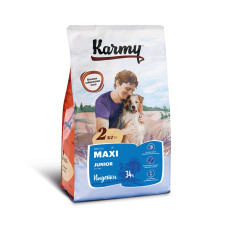 Karmy Макси Юниор Корм сухой для щенков крупных пород с Индейкой, 2 кг