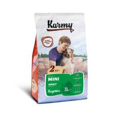 Karmy Мини Эдалт Корм сухой для взрослых собак мелких пород с Индейкой, 2 кг