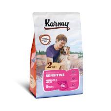 Karmy Сенсетив Медиум и Макси Корм сухой для собак средн и крупн пород с чув. пищев. с Лососем, 2 кг