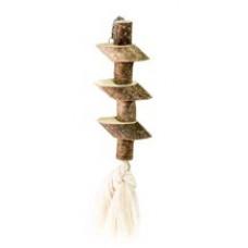 533 Игрушка для птиц Брусочки с хлопковым шнурком, 25 см