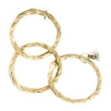 561 Игрушка для всех видов птиц Три сизалевых кольца с колокольчиком, 30*10 см