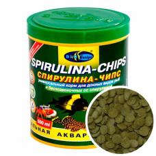 Биодизайн СПИРУЛИНА-ЧИПС - вафельки корм для донных рыб и сомиков со спирулиной (банка) 250 мл/113 г