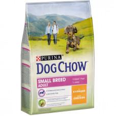Дог Чау Корм сухой для взрослых собак мелких пород с курицей 2,5 кг