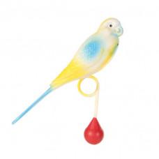 5312 TRIXIE Игрушка для птиц Попугай пластиковый 15 см