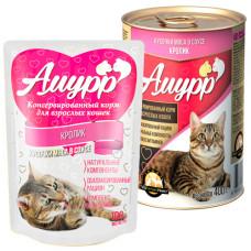 Амурр Корм консерв. для кошек Кролик в соусе, ж/б 400 г