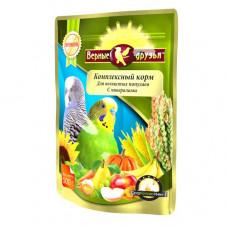 Верные друзья Премиум Комплексный корм для волнистых попугаев с минералами, 500 г