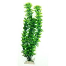 Пластиковый коврик зелёный Желтые цветы с травой 15*15 см