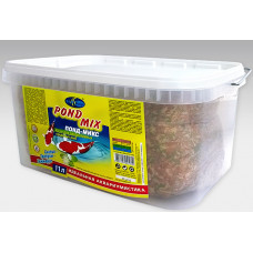 Биодизайн КОИ Понд-Микс смесь хлопья, гранулы и гаммарус 11 л