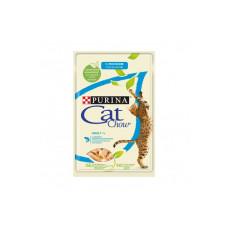 Кэт Чау Корм для взрослых кошек с лососем и зеленой фасолью, в желе, пауч 85 г