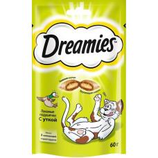 Лакомство DREAMIES для кошек с уткой 60 г