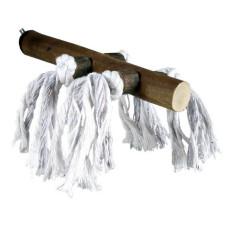 TRIXIE Жердочка деревянная, с веревкой, с винтовым креплением, 20 см