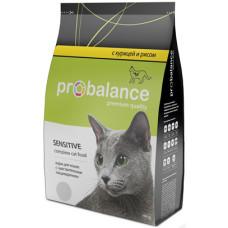 Пробаланс Корм Sensitive сухой для кошек с чувствительным пищеварением с курицей, 400 г